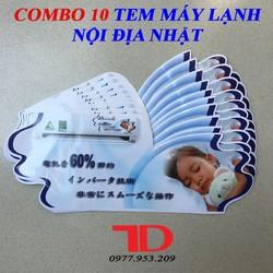 Combo 10 Tem Máy Lạnh nội địa Nhật mẫu 1