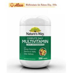 Vitamin Tổng Hợp Và Tảo Xoắn Nature's Way Multivitamin Spirulina, 200 viên