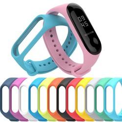 Dây đeo bằng silicon cho đồng hồ thông minh Mi Band 3 4