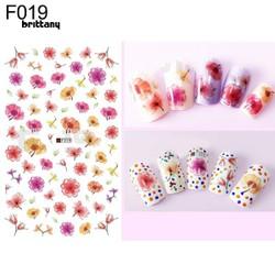 Sticker hoa trang trí móng