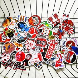 Sticker JAPAN nhựa PVC không thấm nước, dán nón bảo hiểm, laptop, điện thoại, Vali, xe, …