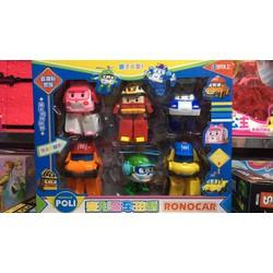 Đồ chơi hộp 6 xe Poli ROBOCAR lắp ghép biến hình 83168-6