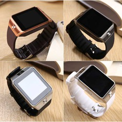 Đồng hồ thông minh Smart Watch Uwatch DZ09 mặt vuông dây đeo mềm mại