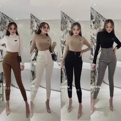 Quần jean dài nữ cạp cao VẢI CO GIÃN hàng công ty cao cấp size M, L, XL