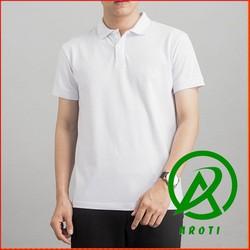 Áo Thun Nam Trơn Cổ Bẻ Cotton Thấm Hút Mồ Hôi Hàng Đẹp Màu Trắng TA115 sd1