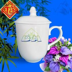 Cốc sứ nắp – cốc cá nhân – cốc sứ uống nước 14 x 9 cm