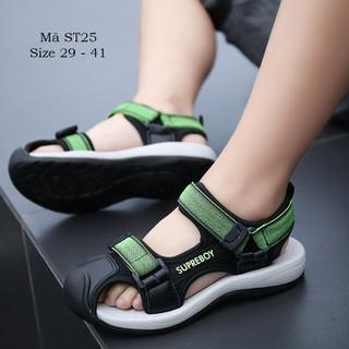Dép sandal bé trai - Sandal quai hậu bít mũi cho bé trai 5 - 15 tuổi phong cách Hàn Quốc ST25 - ST25XANH thumbnail