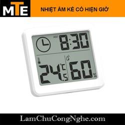 Đồng hồ đo nhiệt độ độ ẩm kèm thời gian thực hiển thị LCD - nhiệt kế, ẩm kế