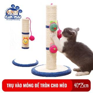 Trụ cào móng cho mèo có đế tròn Kún Miu chất liệu sisal - PVN2295 thumbnail