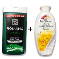 [ Combo 2 chai] Sữa Tắm Romano classic 150gr và sữa tắm Nước Hoa Enchanteur Charming 100gr, HSD đến 10-2022