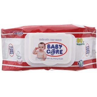 Khăn giấy ướt Baby Care 80 tờ- Không mùi, kháng khuẩn - 8936072190672 thumbnail