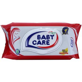 Khăn giấy ướt Baby Care 80 tờ - Mùi phấn - 8936072190498 thumbnail