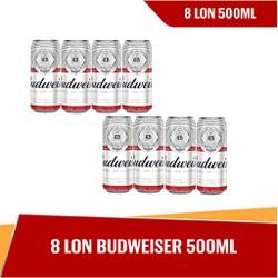[HCM] Budweiser lon 500ml - 8 lon