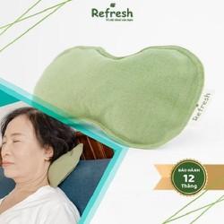[Tặng bóng mát xa] Túi chườm hõm gáy xoa dịu cơn đau mỏi vùng cổ do ngồi lâu,... thành phần thảo dược tự nhiên - REFRESH