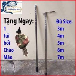 Sào rút Inox treo móc chim cảnh 1m7 - 7m tặng kèm móc và túi bổi chào mào