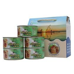 Thùng - 06 hộp Mắm cá linh chưng - Đặc sản An Giang - Miền Tây, Chuẩn vệ sinh an toàn thực phẩm Nam - Nữ - Lão -Ấu đều dùng được, Mùa nóng - mùa lạnh đều ăn ngon