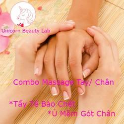 [Evoucher_Quận Bình Thạnh_HCM] Combo Massage Tay Hoặc Chân + Tẩy Tế Bào Chết + Ủ Mềm Gót Chân Tại Unicorn Beauty Lab