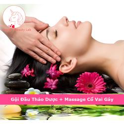 [Evoucher_Quận Bình Thạnh_HCM] Combo Gội Đầu Thảo Dược Và Massage Cổ Vai Gáy 60 Phút Tại Unicorn Beauty Lab