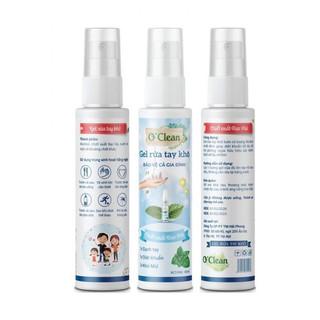 Gel rửa tay khô diệt khuẩn O Clean 60ml Hương Bạc Hà - HS569 thumbnail