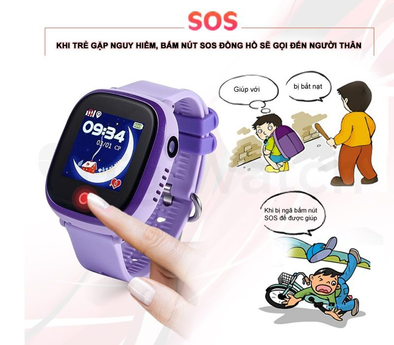 Đồng hồ định vị trẻ em Wonlex GW400X có Camera, chống nước IP67 - hình 13