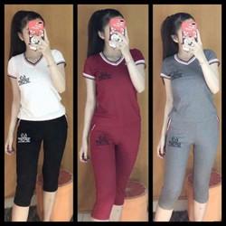 MUA 2 BỘ FREESHIP_ Bộ đồ lửng mặc nhà cho nữ SPORT, size 38-68kg