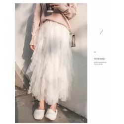 chân váy von lưới tầng
