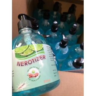 Chai lớn 500ml Dung dung dịch rửa tay khô xát khuẩn NEROTIZER 500ml phòng ngừa virut corona - nước rua tay khô gel thumbnail