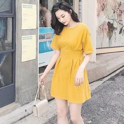 Váy Xoè Hở Lưng Chất Cotton Mềm Mịn