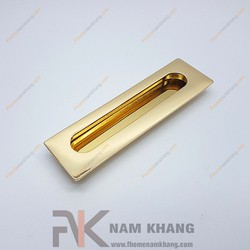 Tay nắm âm tủ màu vàng NK356-128V