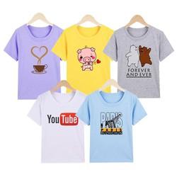[ Được xem hàng- Áo Bán Lẻ] COMBO 5 áo thun nữ y hình Thương Hiệu Pumbaa