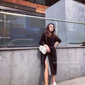 Sét thể thao áo dài tay chân váy xẻ siêu đẹp - 2764641829