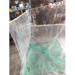 Vèo nuôi ếch 2x3x2 mét mắc lưới oli trắng 8ly