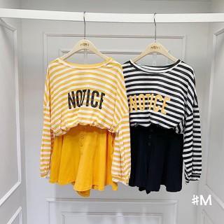 Sét áo thun kẻ quần đũi ống rộng giả váy hàng Quảng Châu - 2764642419 thumbnail