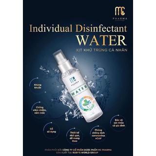 Combo 2 nước rửa tay khô sát khuẩn khử trùng Pharma loại 60ml - rửa tay khô thumbnail