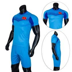 Đồ bộ quần áo thể thao bóng đá nam Việt Nam 2020 màu Xanh Thời trang Everest - Thun dày đẹp