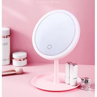 Gương trang điểm có đèn Led cảm ứng cao cấp quà tặng người yêu quà 8 - 3 Bởi asam - Gương trang điểm thumbnail