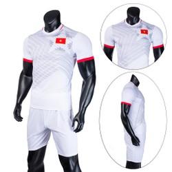 Đồ bộ quần áo thể thao bóng đá nam Việt Nam 2020 màu Trắng Thời trang Everest - Thun dày đẹp