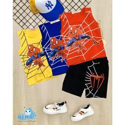 GIÁ TẬN XƯỞNG-COMBO 3 bộ đồ quần áo trẻ em gồm 3 màu khác nhau in hình supper men cho bé trai từ 8kg đến 26kg