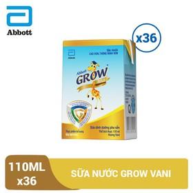 Thùng 36 hộp sữa nước Grow Vani 110ml - GRO028947