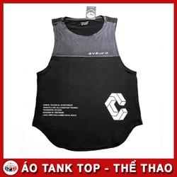 Áo Tank Top Rộng Nách Nam - Quần áo tập gym nam màu đen xám
