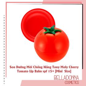Son Dưỡng Môi Chống Nắng Tony Moly Cherry Tomato Lip Balm spf 15+ [Mini Size] - tonymoly.son.tomato