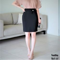 (SIÊU RẺ) Chân váy bút chì  đen  hàng  thiết kế cao cấp MS020 phong cách công sở chất liệu vải nhập co giãn tốt cho xem hàng