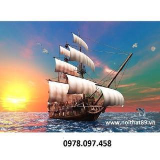 Thuyền buồm- tranh gạch - HHy76 thumbnail