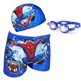 Bộ quần nón và kính cho bé trai đi bơi - Màu ngẫu nhiên - LM1483DH244