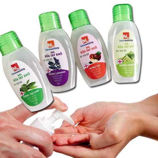 Combo 3 chai gel nước rửa tay khô 60ml - Giao mùi ngẫu nhiên