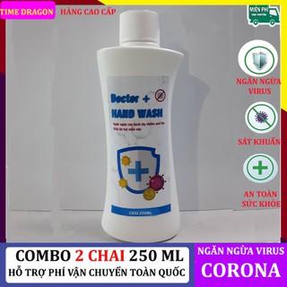 Nước rửa tay khô, gel rửa tay khô sát khuẩn Doctor + Hand Wash giúp làm sạch, làm thơm và bảo vệ da tay, ngăn ngừa virus, bảo vệ sức khỏe - combo 2 doctor + hand wash thumbnail
