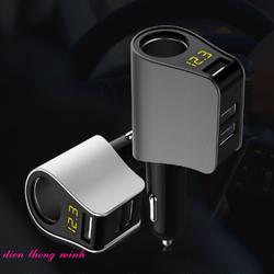 Tẩu sạc điện thoại trên ô tô 3 cổng USB
