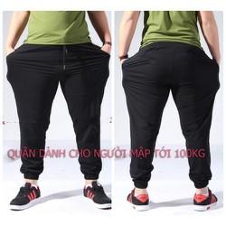 MUA 2 CÁI FREESHIP_ Quần joger bigsize cao cấp, có 4 màu size 70-100kg