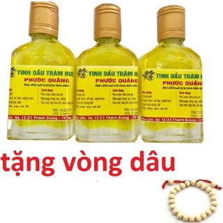combo 3 chai tinh dầu tràm phước quảng tặng vòng dâu - b3 chai phước quảng thumbnail