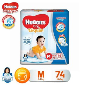 [Đủ size] Tã quần HUGGIES DRY PANTS SUPER JUMBO: M74-L68-XL62-XXL56 - 8888336017402